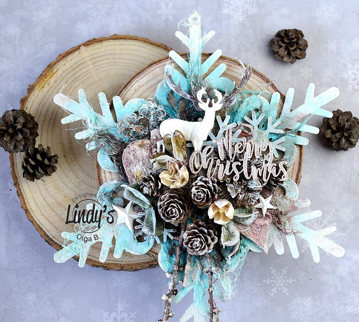Altered Wooden Snowflake with Olga Bielska - Lindy's Gang