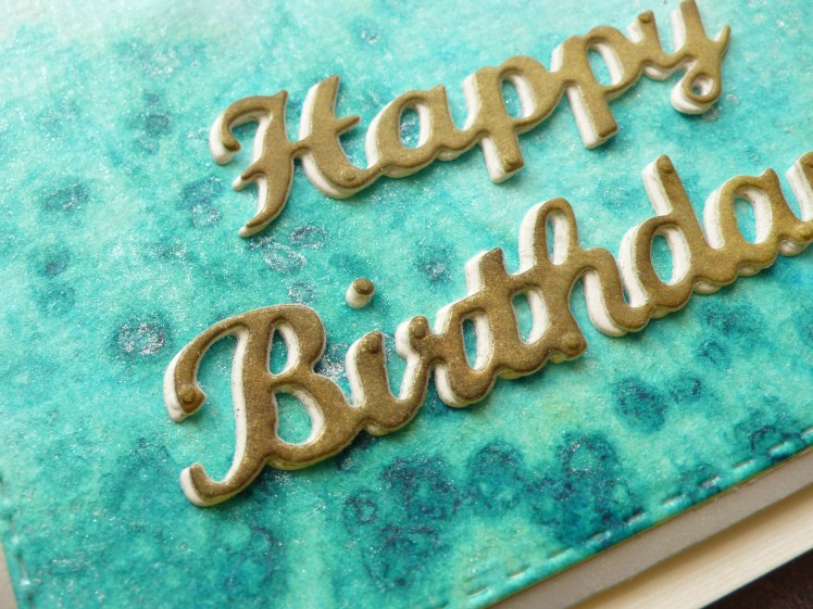 Step by step tutorial on how to create birthday cards using Lindy's and Salt