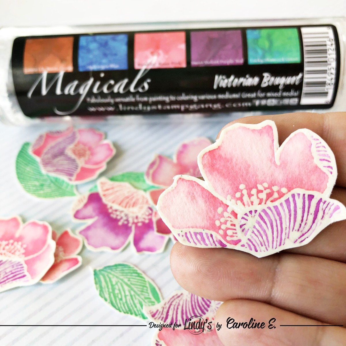 Stamp Coloring using Magical Powders with Caroline