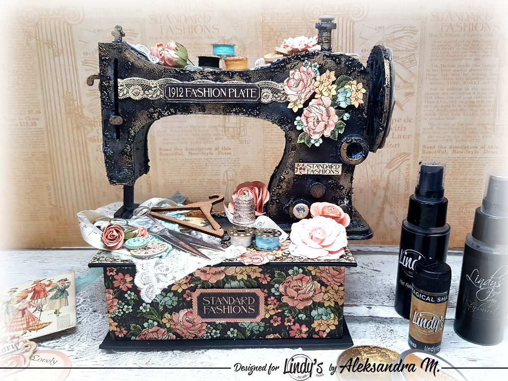 Old-fashioned Altered Sewing Machine with Aleksandra