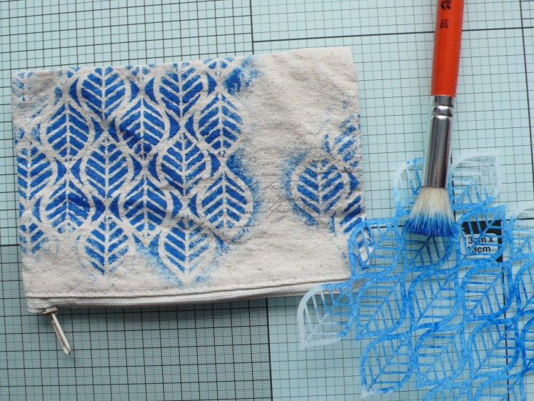 How to create a fun design on fabric using Lindy's and stencils