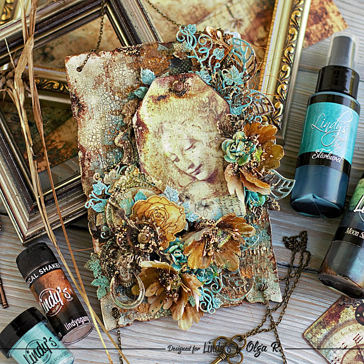 Vintage Mixed Media Panel with Olga Ravenskaya