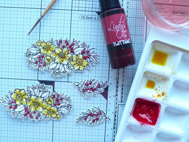 Seasonal art journal page DT Heidi