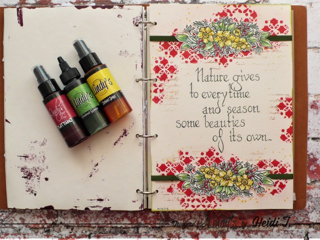 Step by step tutorial on how to build an art journal page