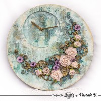 Mixed Media Clock with Pascale B