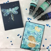Create Faux Alcohol Ink Cards with Photo Paper