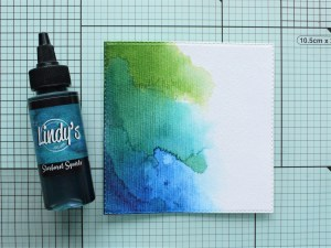 Step by step tutorial about Squirts on watercolor paper