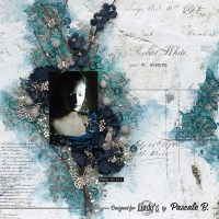 Free to Fly, Mixed media layout with Pascale B.