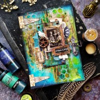 Rust and Teal Journal Page by Noura Pompilla