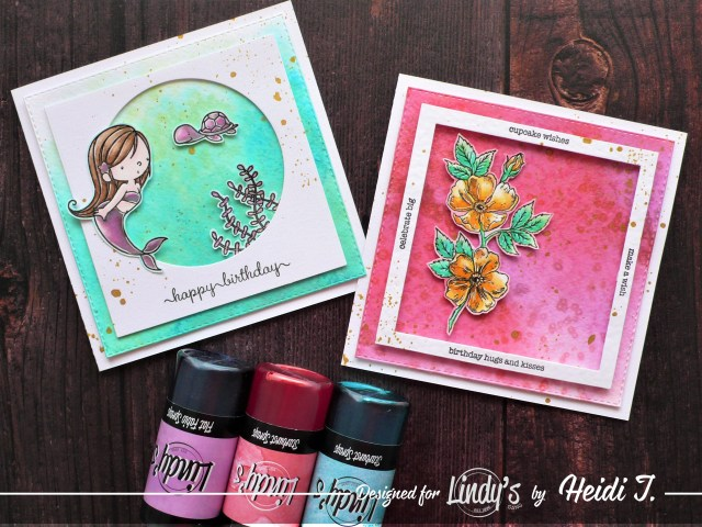Step by step tutorial on how to create salt background using Lindy's products