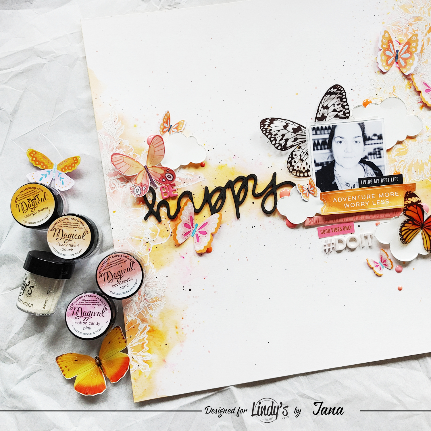 White Heat Embossing and Coloring for Stunning Layouts with Jana