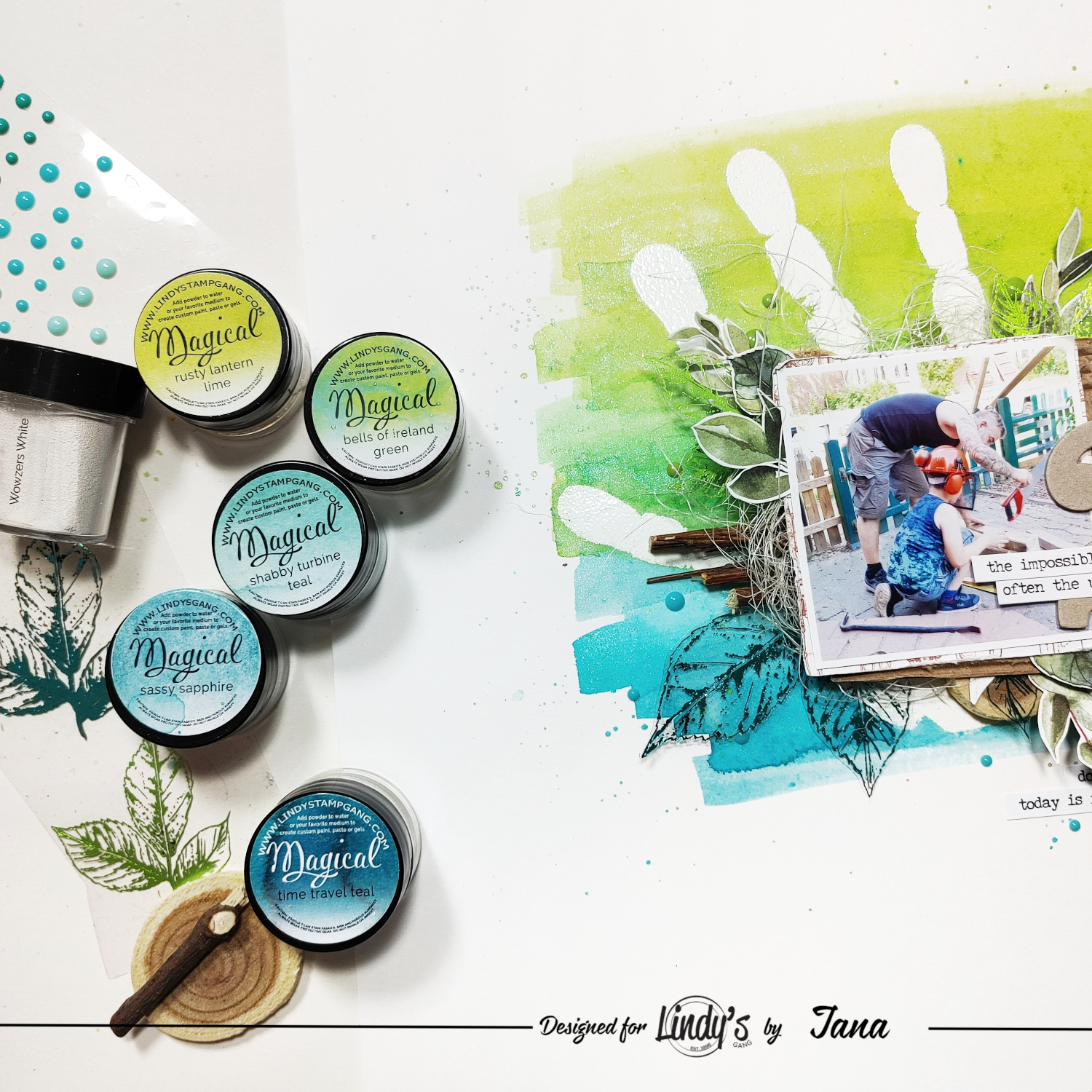 Resist Technique with Heat Embossing & Lindy's Magicals with Jana McCarthy