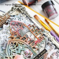 Coloring chipboard with Lindy's Squirts on a Tag by Marina Ignatova