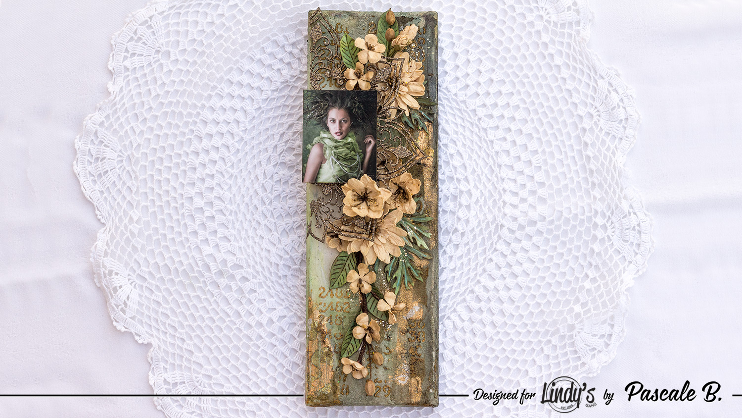 Green Lady - Mixed media canvas by Pascale B.