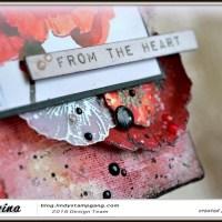 """Mixed Media Canvas """"Poppies"""""""