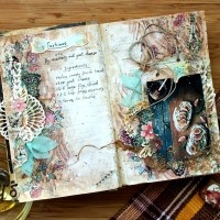 Step-by-Step Culinary Art Journal Spread with Elena Martynova