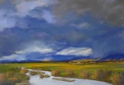 Storm over the Valley (pastel) 26x39cm $80