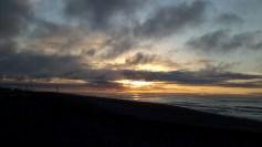 Sunset Hokitika beach