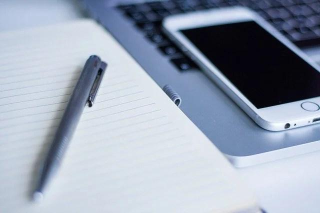 iPhoneとノート