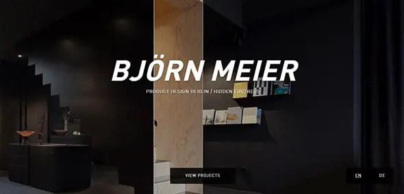 Bjorn Meier Graphic Designer Portfolio Website