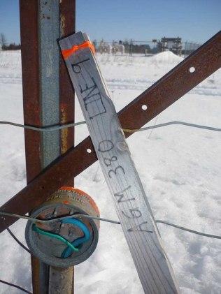 Line 9 Pipeline Marker in Glenburnie, ON