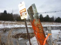 Saturated Ground and Aging Pipeline Markers - Glenburnie, ON