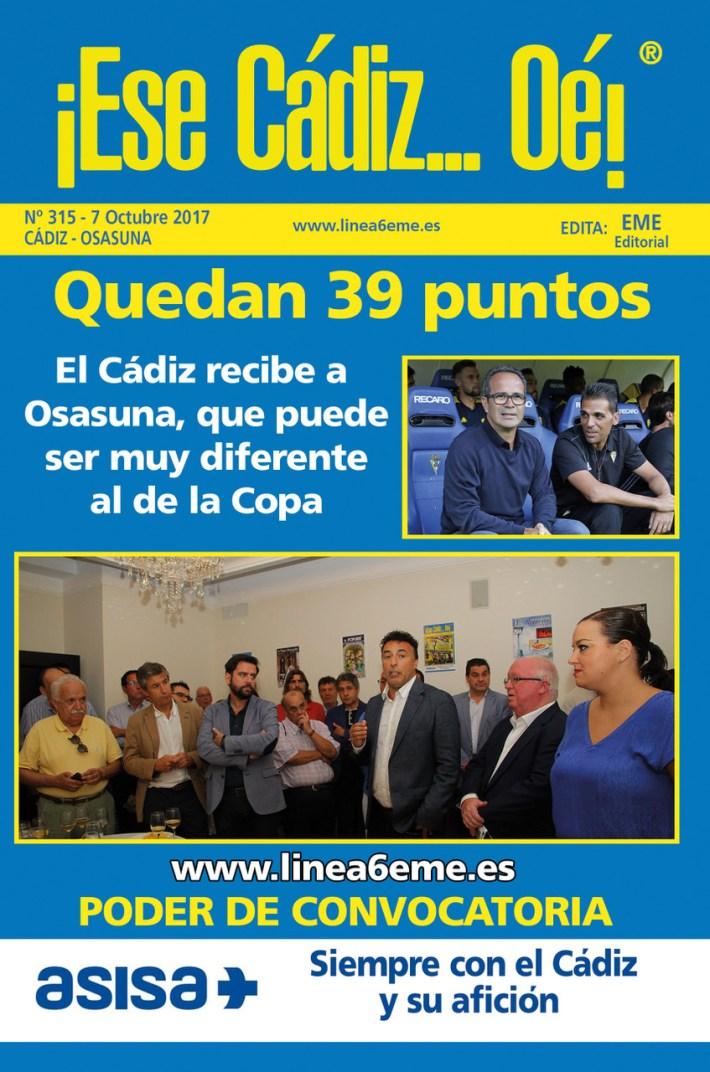 Portada revista ¡Ese Cádiz...Oé! núm. 315
