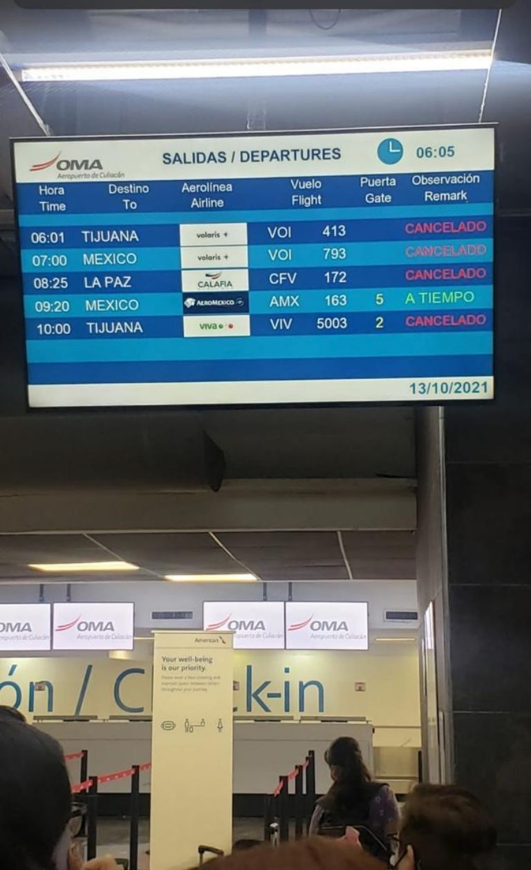 """""""Pamela"""" leaves Culiacán and Mazatlán without air connection. All flights are canceled!"""