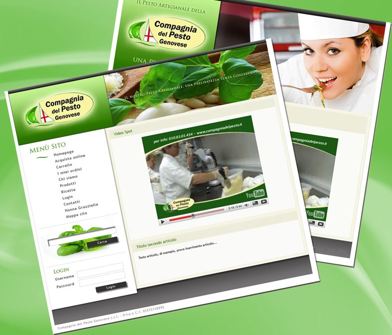 Pesto-genovese.it grafica web