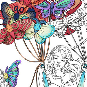 line artsy purchase butterflies adult coloring page
