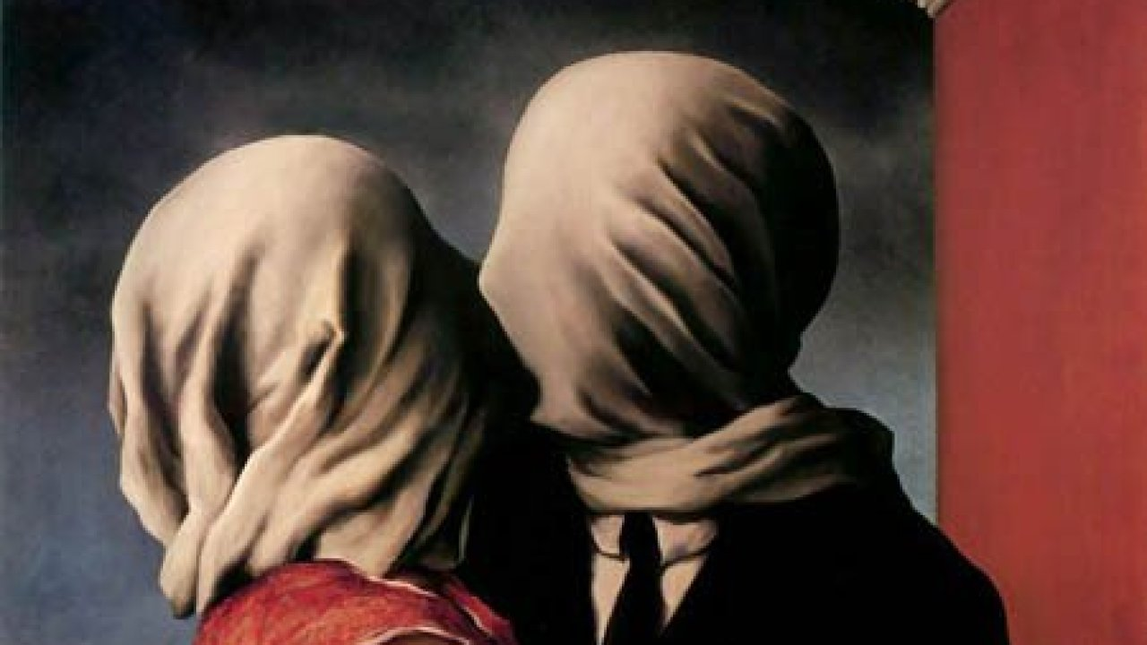 """Los amantes"""", de René Magritte (1928). - líneas sobre arte"""
