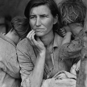 """Madre migrante"", de Dorothea Lange (1936)."