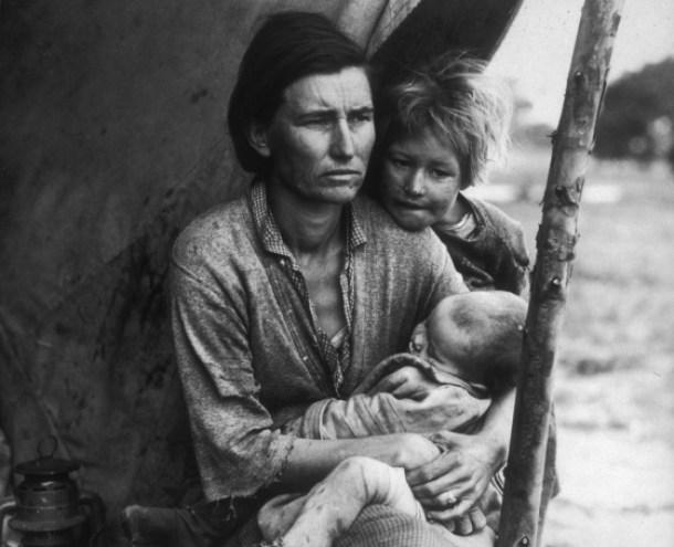 lange madre migrante