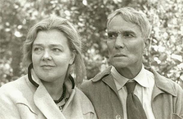 Zhivago Olga Ivinskaya junto a Boris Pasternak.