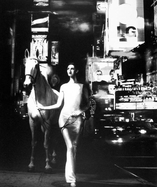 """bassman """"Anneliese Seubert en Times Square"""", 1997."""