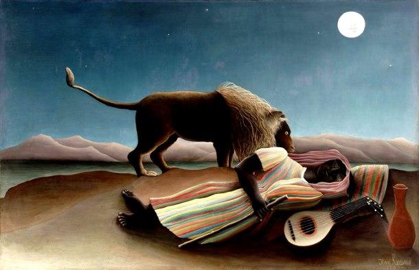 """Rousseau """"Gitana dormida"""" (1897)."""