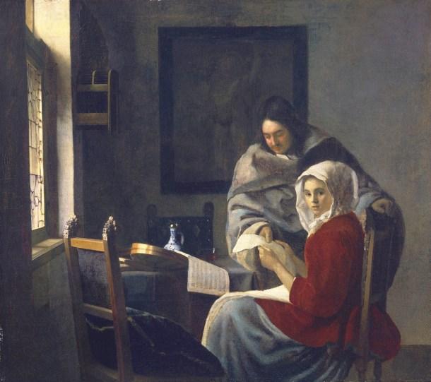 la clase de música interrumpida circa 1660