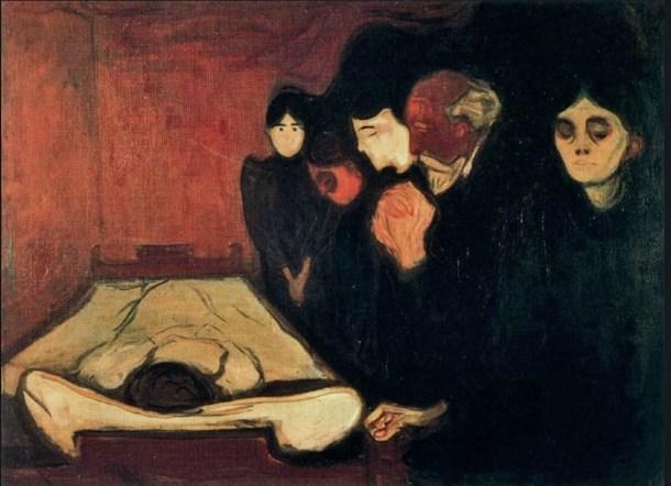 Munch junto al lecho de muerte 1895