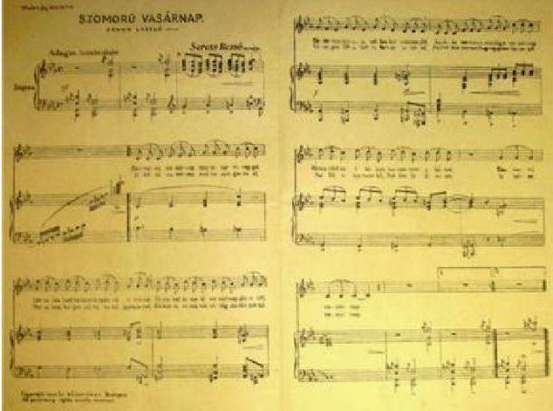 Gloomy Sunday partitura