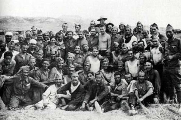 La Columna Durruti en una foto del archivo de la CNT.