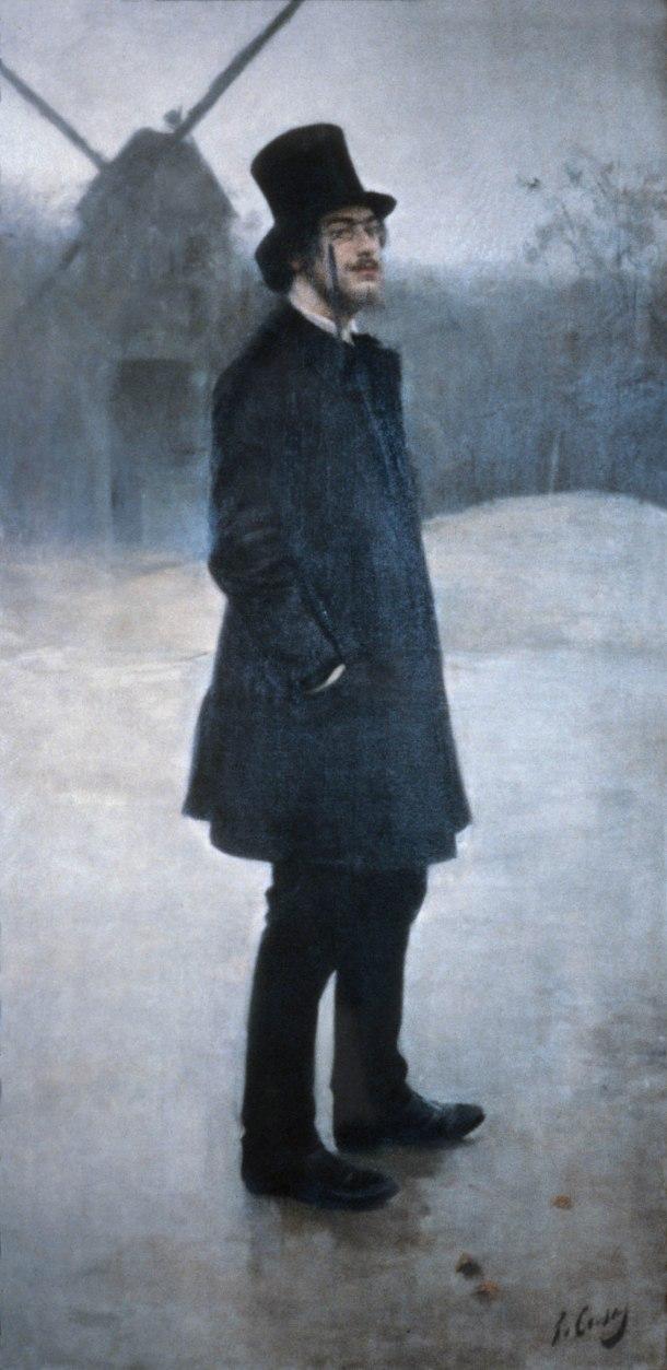 Erik Satie según Ramón Casas.