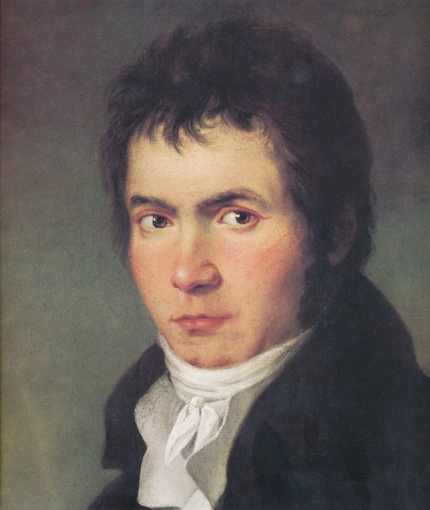 Beethoven según W. J. Mähler, 1804.