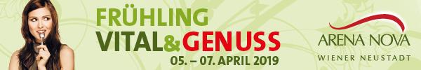 Kostenlos zur Vital & Genuss in der ArenaNova – 5.-7. April 2019