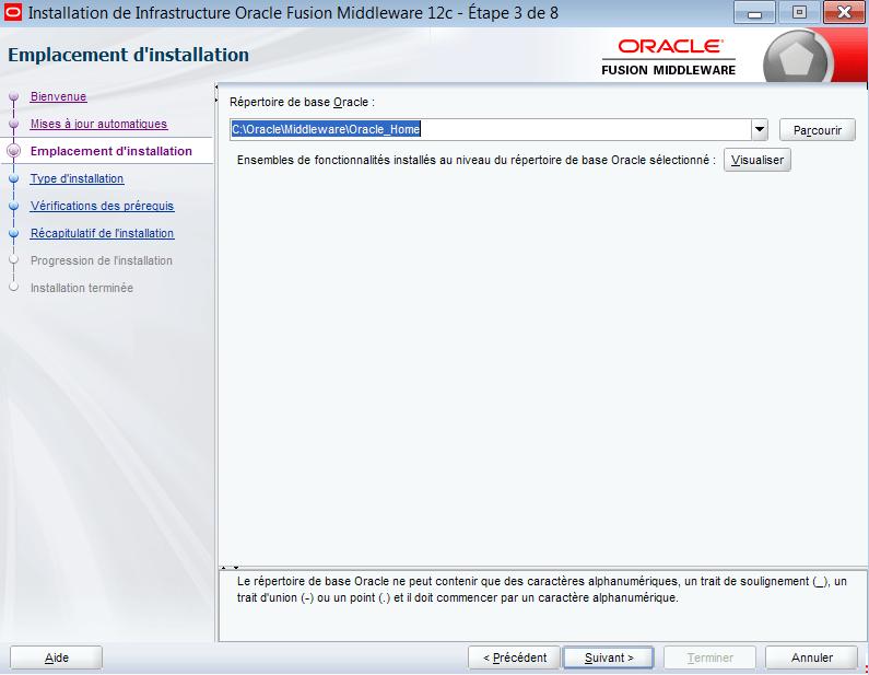 Oracle WebLogic Server (FMW Infrastructure) installation