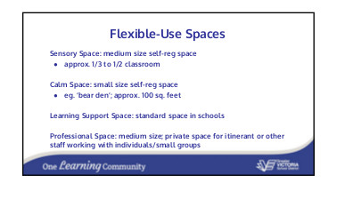 Flexible use spaces May 7 18