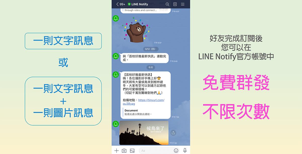 荔枝好推 LINE Notify模組介紹&教學