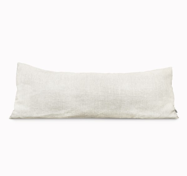 Body Pillow Linen and Stripes Beige1