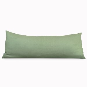 Body Pillow Linen and Stripes Green1