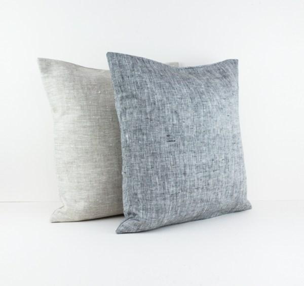Grey Europe pillow case Grey linen pillow Gray pillow Euro sham Grey throw pillow Decorative pillows for bed European pillow case 4