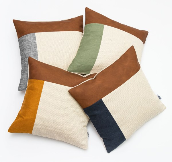 Linen and Stripes leather color retro all together